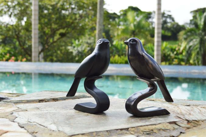 filter_Bronze Repoussé & Glass Sculpture