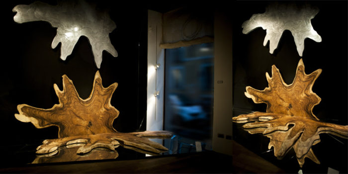 filter_Metal & Wood Wall Sculpture
